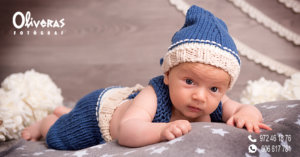 newborn amb gorro per la fred