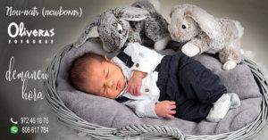 nounat dormin placidament al seu cistellet